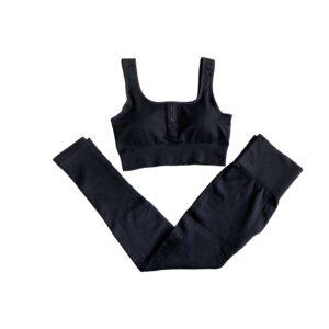 Black Buttoned Gym Set